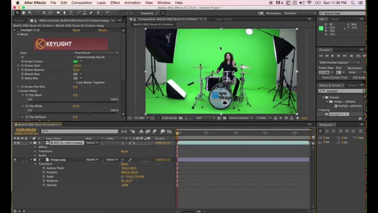 Color Keying in After Effects CS3 Good Habits and Best Practices