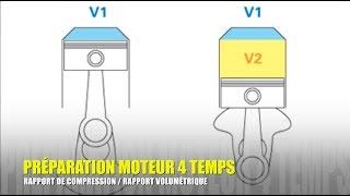 #7 - PREPARATION MOTEUR 4 TEMPS : RAPPORT / TAUX DE COMPRESSION, RAPPORT VOLUMÉTRIQUE