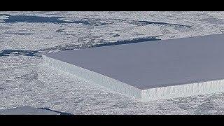 Extremely geometric Iceberg found in Antarctica NASA. Similar to Kubrick Odyssey movie