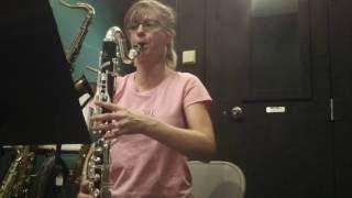 Audrey Plays a Tosca Bass Clarinet pt1