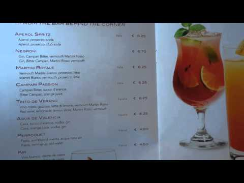 MSC Preziosa Drinks Menu Prices and Packages