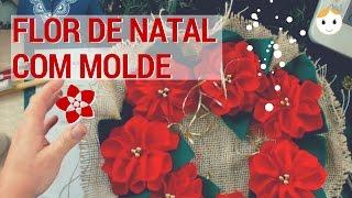Ao Vivo: Flores Para Decorar Seu Natal Com Molde