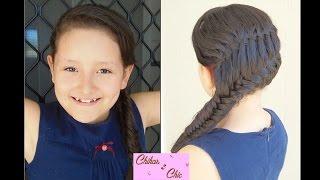 Merged braids: Waterfall and fishtail Braid!! | Braid Combo | Braided Hairstyles
