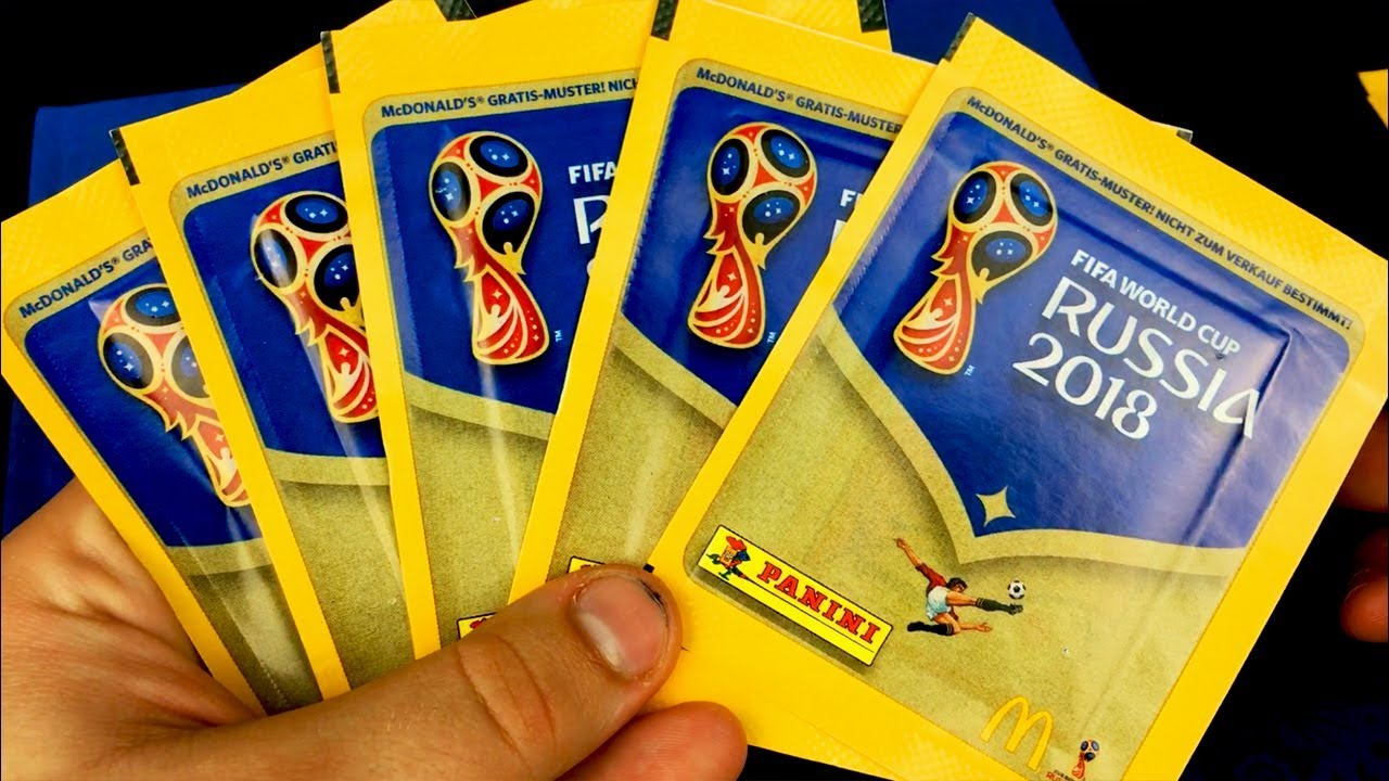 exclusive mcdonalds stickers panini world cup 2018 sticker packopening - Gratis Muster