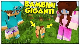I BAMBINI GIGANTI ATTACCANO LA CAMERETTA! - Minecraft ITA