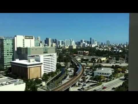 University of Miami Hospital P-House Room 36 view. City of M