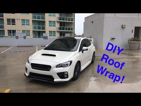 2017 Wrx Sti Diy Roof And Antenna Wrap Premium Auto