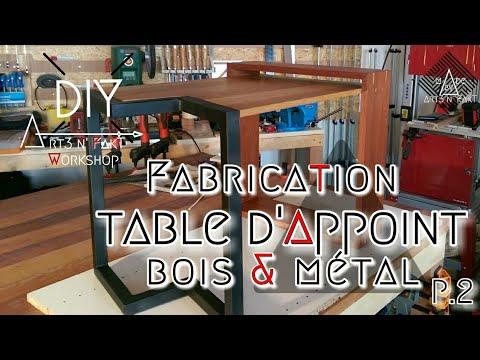 TABLE d'appoint DECO BOIS & MÉTAL part. 2