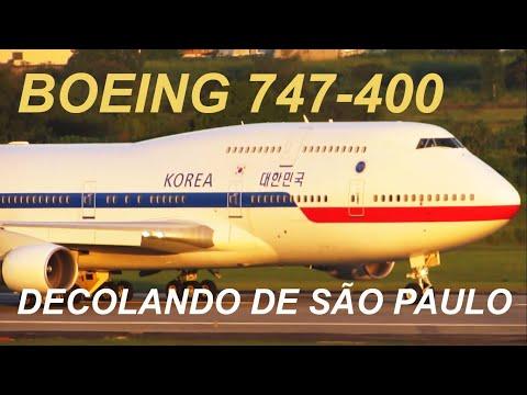 KOREAN Government Boeing 747-400 takeoff São Paulo