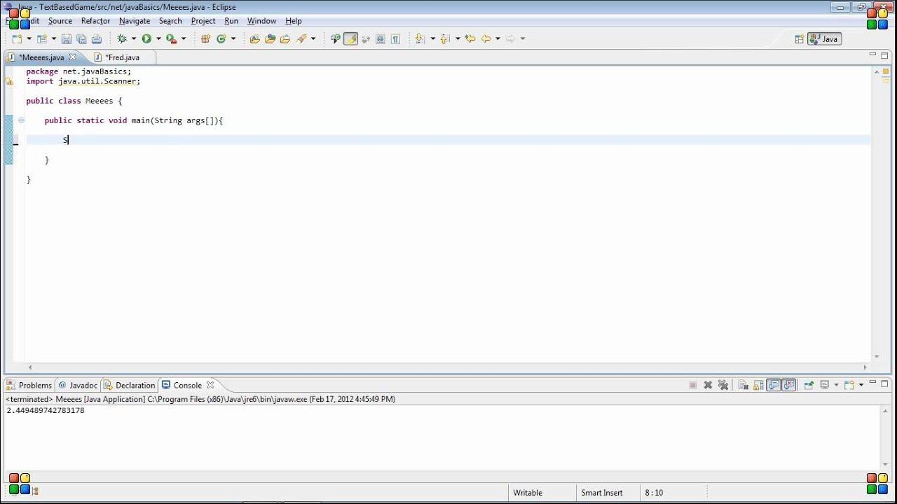 Java beginner tutorial 14 adding another class file youtube java beginner tutorial 14 adding another class file baditri Gallery