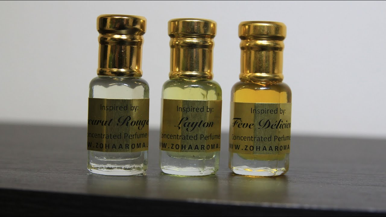 Zoha Aroma Fragrance Oils Review Giveaway Baccarat Rouge 540