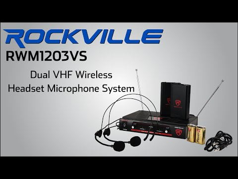 Rockville RWM1203VS Dual Headset Microphone System