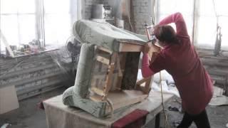 Ремонт мягкой мебели в Краснодаре - обивка и перетяжка кресла.(В этом видео мы покажем, какие чудеса в нашем цехе делают с обычным креслом. Вот так рождается новая жизнь!..., 2014-03-05T12:09:56.000Z)