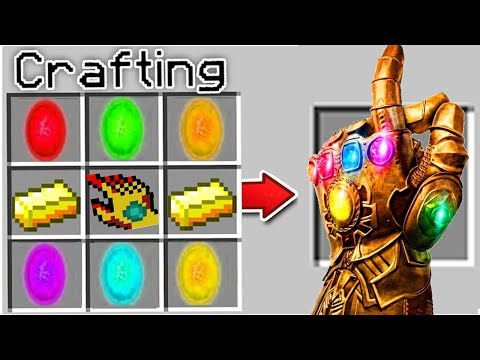 Minecraft HOW TO CRAFT : NOOB And PRO CRAFTING INFINITY GAUNTLET In Minecraft ANIMATION