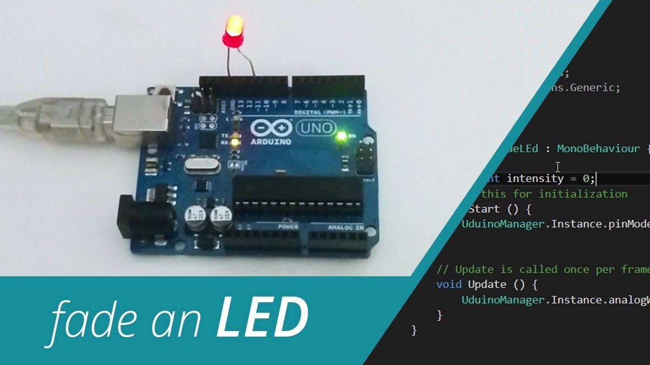 Fade an LED from Unity to Arduino - Uduino Video Tutorial