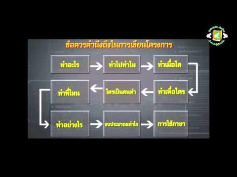 หลักการเขียนโครงการ (ภาษาไทยพื้นฐาน)