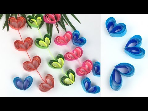 Paper Craft | Heart Wall Hanging Craft Ideas |  Wall Hanging Craft Ideas | Heart Craft