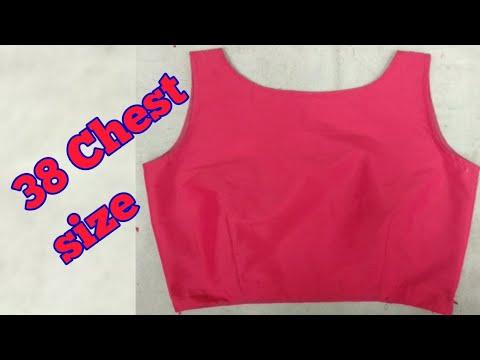 Single Taks Boat Neck,sleeveless Blouse Cutting And Stitching In Hindi  DIY 