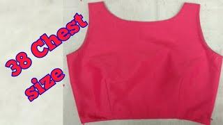 single taks boat neck,sleeveless blouse cutting and stitching in Hindi |DIY|