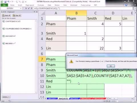 Excel magic trick 884 reverse lookup to create proper for Tabular table
