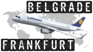 A319 Cockpit Flight Timelapse from BELGRADE [BEG] to FRANKFURT [FRA] 1100km