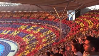 Hino UEFA Champions League - FINAL Berlin 06/06/15, Barcelona x Juventus - Visão da arquibancada