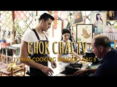 Thai Cooking School⎪GREEN CURRY, SWEET & SOUR SALAD, BANANAS COOKED IN SYRUP