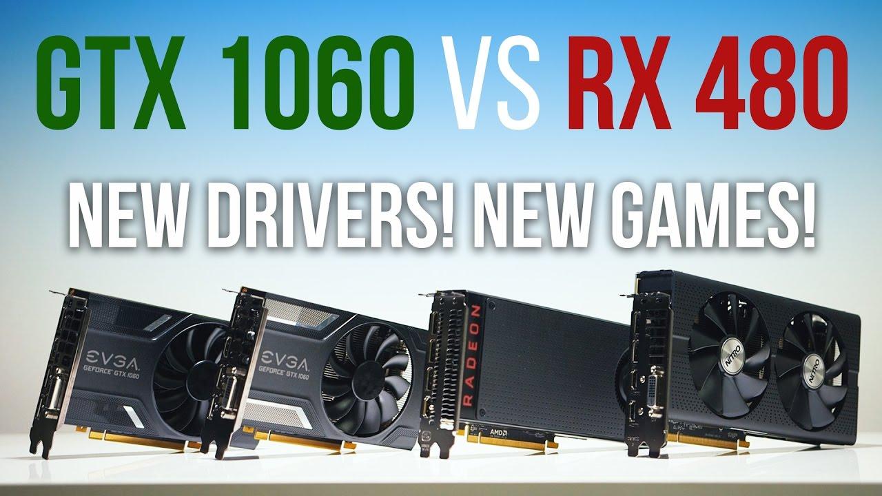 GTX 1060 vs RX 480 | Who Wins NOW?