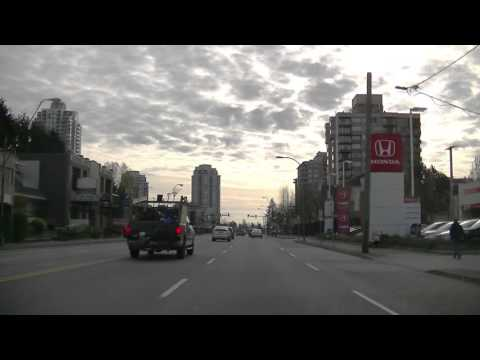 BURNABY British Columbia Canada - Driving in BC - Sightseeing Drive - Morning 2016