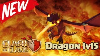 Clash of clans: LEVEL 5 DRAGONS - 2 AIR SWEEPERS - NEW BARRACKS