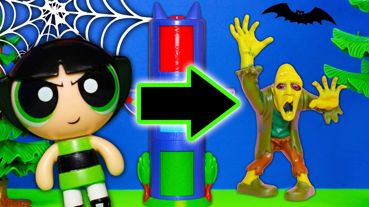 powerpuff girls find halloween costumes in pj masks transforming tower
