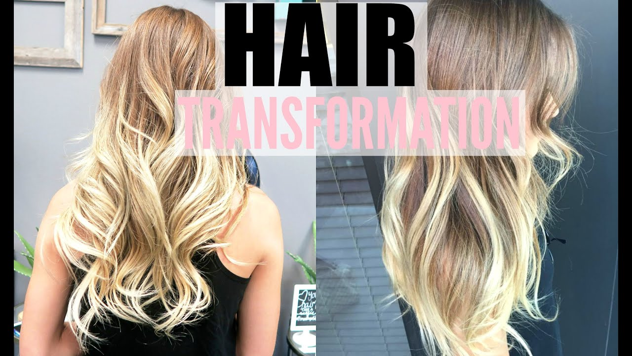 Hair Transformation Blonde Balayage Hair Extensions Youtube