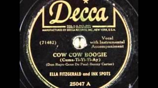 Ella Fitzgerald & Ink Spots. Cow Cow Boogie (Decca 18587, 1943)