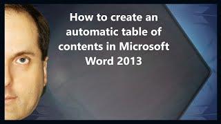 2013 Microsoft Word'de otomatik içindekiler tablosu oluşturma