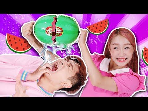 [Jini X Kangi] Watermelon Board Game Challenge  -Jini