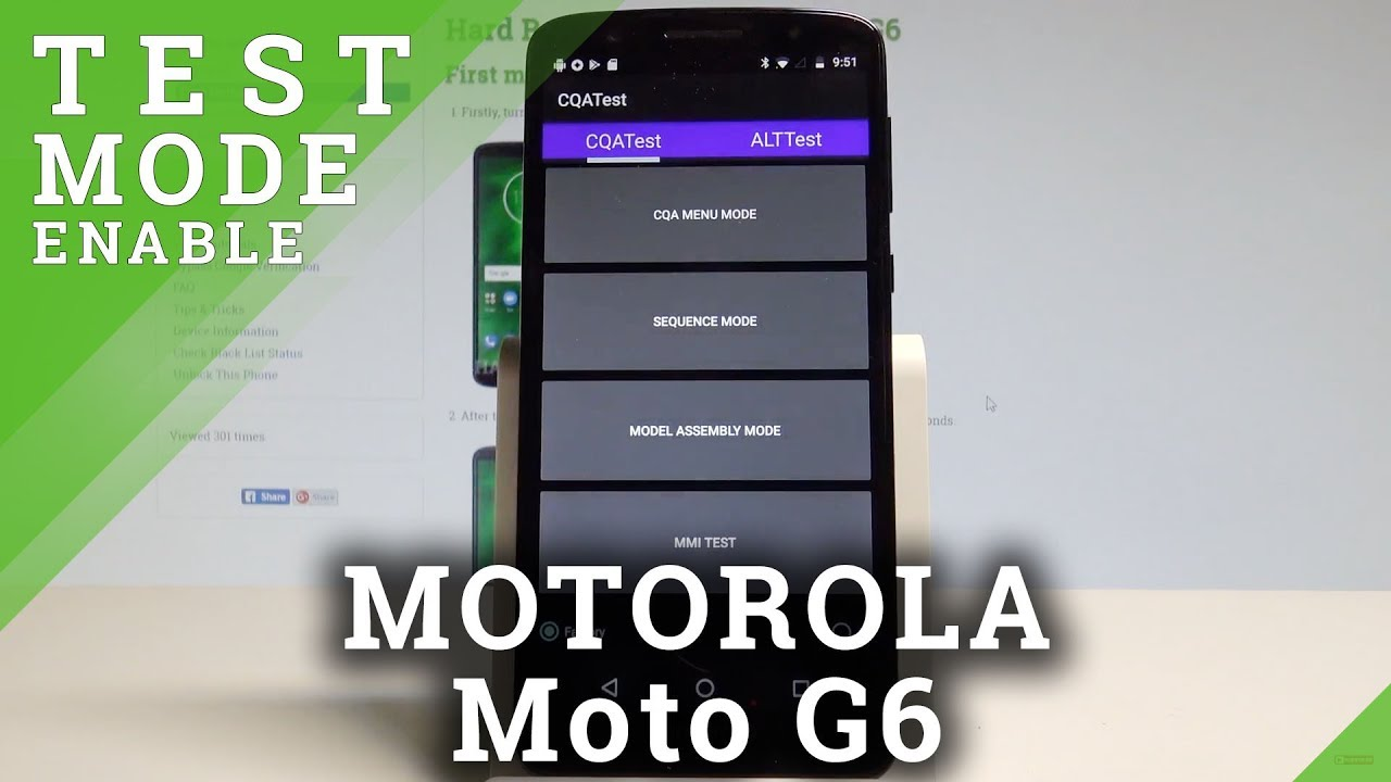 How to Enter Test Mode on MOTOROLA Moto G6 - Hardware Test Menu  |HardReset Info