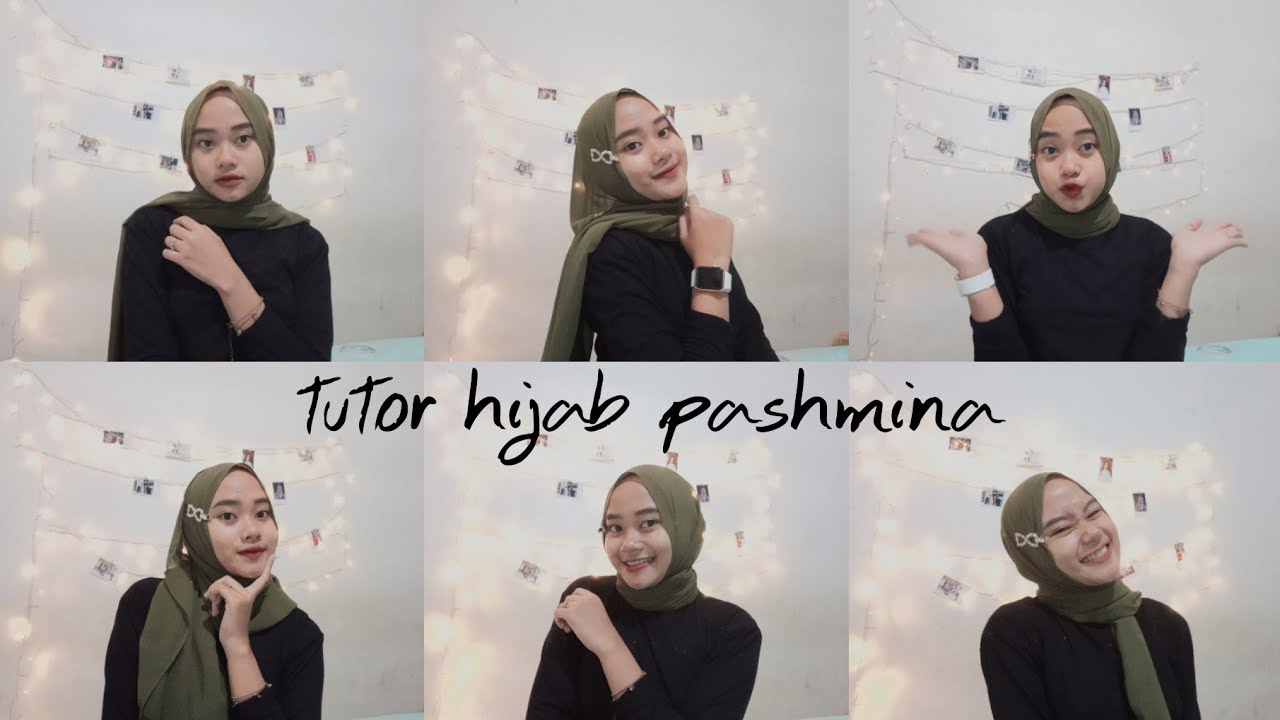 Tutorial Hijab Pashmina Ceruti Super Simple Jepit Hijab Ala Neneng Permata Youtube