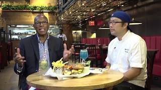 GlobeTrotter Jon Haggins Taste of NY at Burger & Lobster Restaurant
