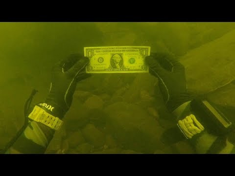 I Found Money While Cleaning a Trash Pile Underwater in River! (Scuba Diving)