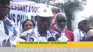 RDPC RESSORTISSANT DU SUD RECOIVENT LAURENT ESSO INTERIEW PATRIARCHA