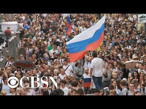 Hundreds arrested during protest in Moscow