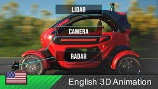Autonomous car / self-driving car - How it works! (Animation) thumbnail