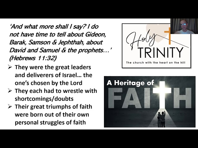 Lent Bible Study: A Heritage of Faith: session 4