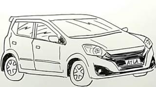 Cara Menggambar Mobil Ayla Dengan Mudah Youtube