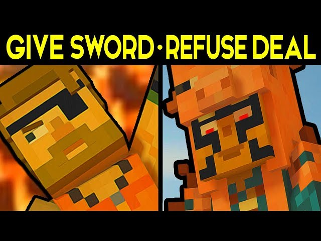 Gamerrzombie Give Your Sword Or Refuse Their Deal! Minecraft Story Mode  Season 2 Episode