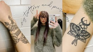 tattoo tour | all about my piercings and tattoos