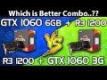 GTX 1060 (3GB) vs GTX 1060 (6GB) || Ryzen R3 1200 || Comparison