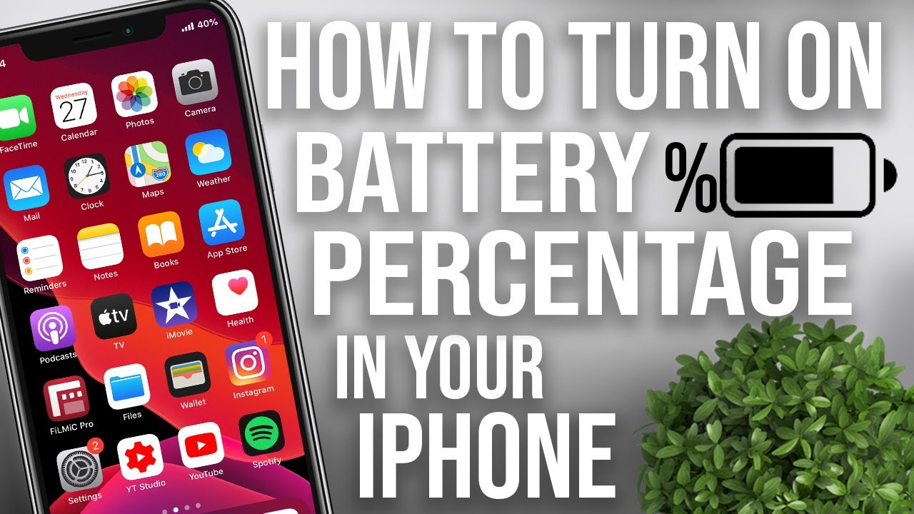 How to get Battery Percentage on iPhone 11 - YouTube