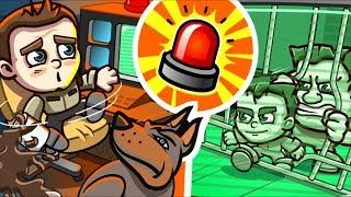 ПОБЕГ ИЗ ТЮРЬМЫ Money Movers #5 Полицейские догоняют преступников мультяшной игре Игра на двоих