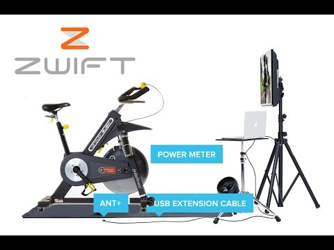 How to Set up a Spinning bike on Zwift (with a power meter) Step-by-Step